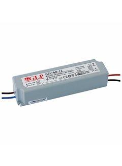 LED Strømadapter - 12V 60W 5A - Egnet til 12V LED-lys - IP67 vandtæt