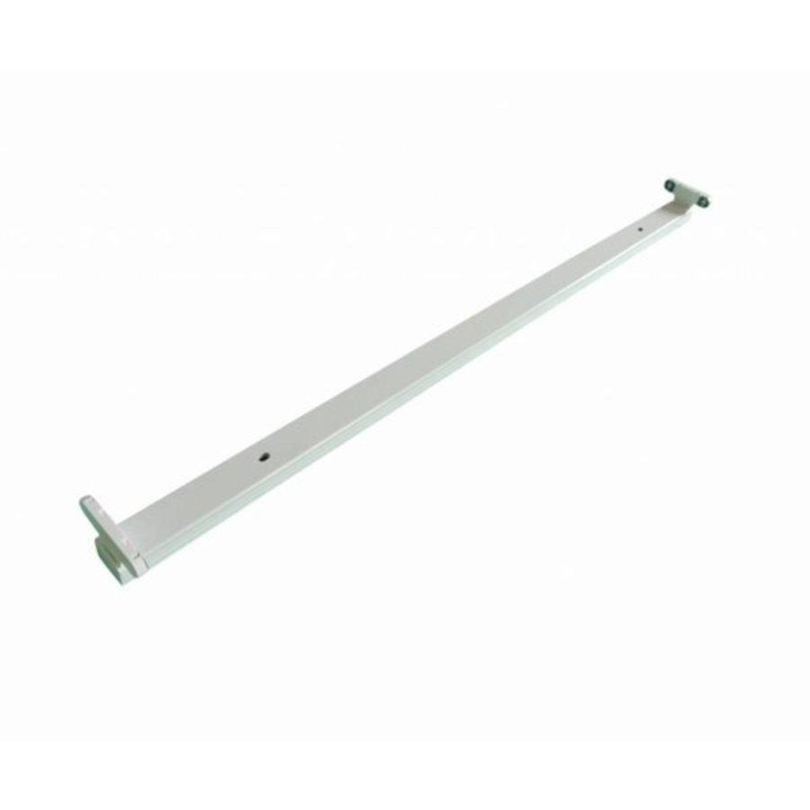 T8 / G13 - 120cm - åbent LED-armature IP20 - Till LED lysstofrør - Hvid Alu