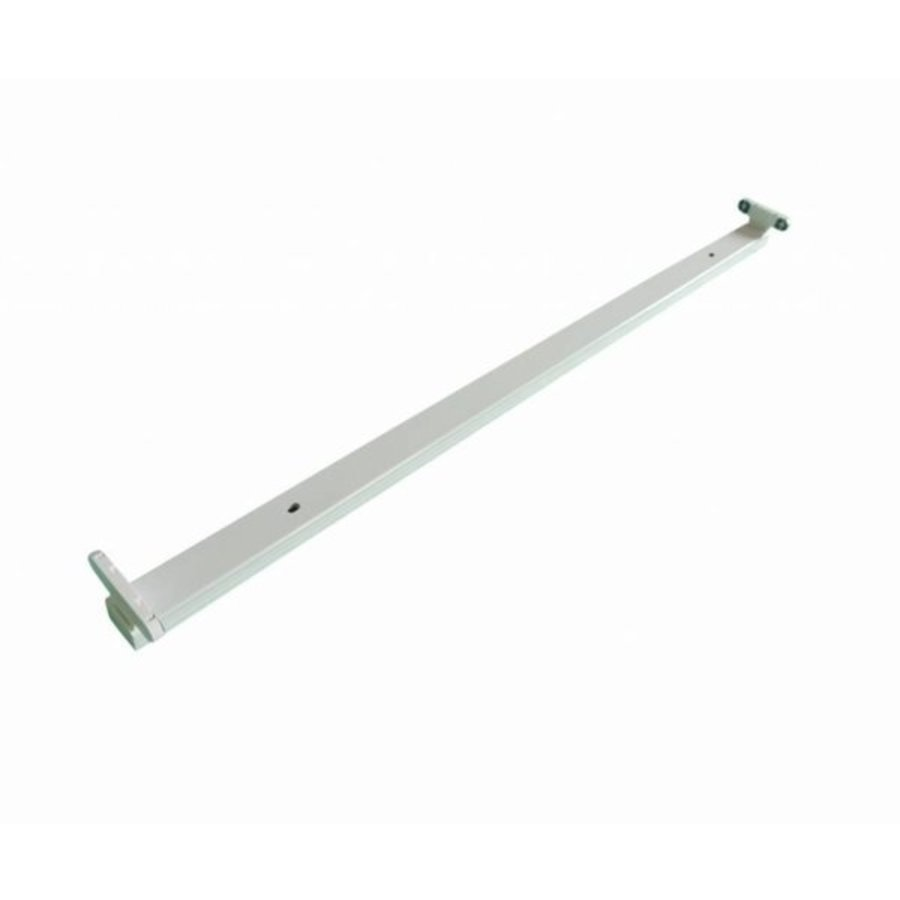 T8 / G13 - 150cm - åbent LED-armature IP20 - Till LED lysstofrør - Hvid Alu