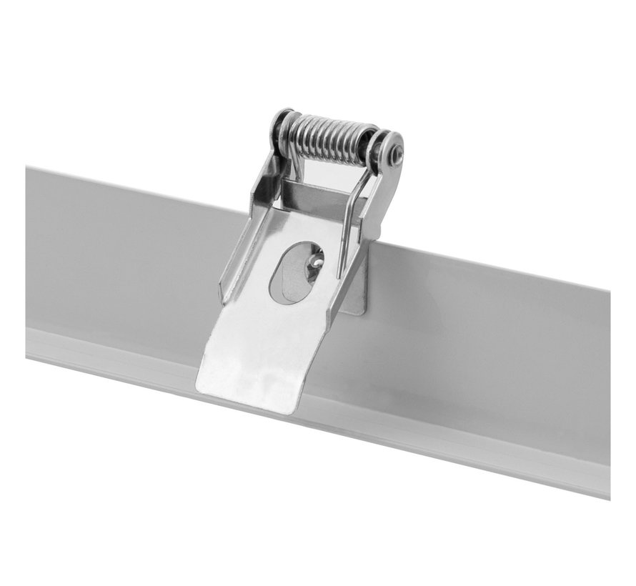 Loftsmonteringsramme i hvid til troldtekt- og gipslofter - Til 60x60 cm LED paneler