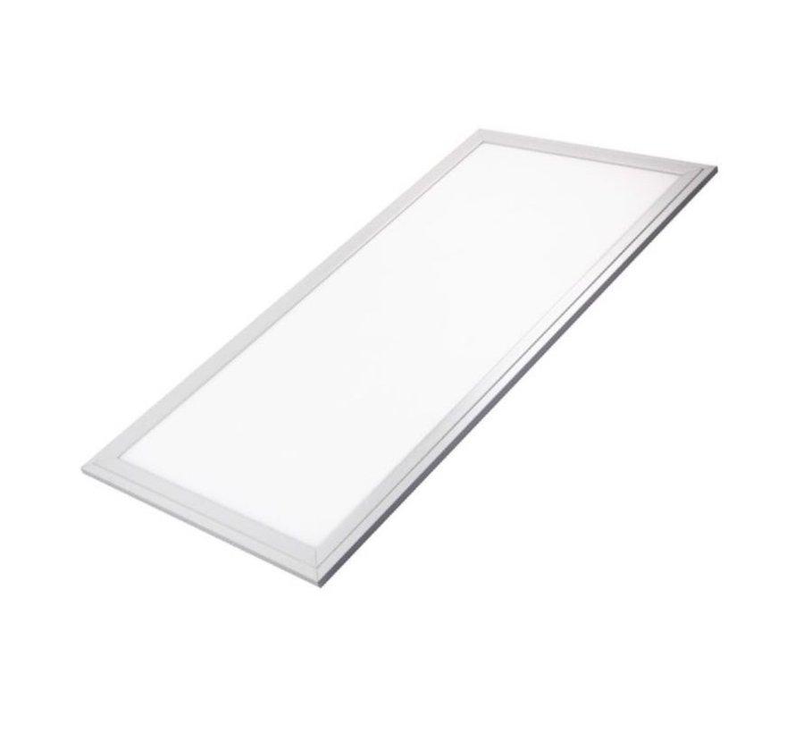 LED Panel 60x30cm - Varm hvid 3000K 830 25W 2125lm - Hvid kant - Inklusiv driver