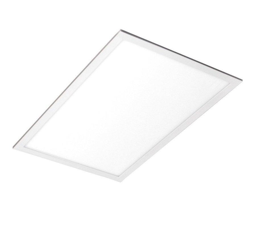 LED Panel 60x30cm - Naturlig hvid 4000K 840 - 25W 2125lm - Hvid kant - Inklusiv driver