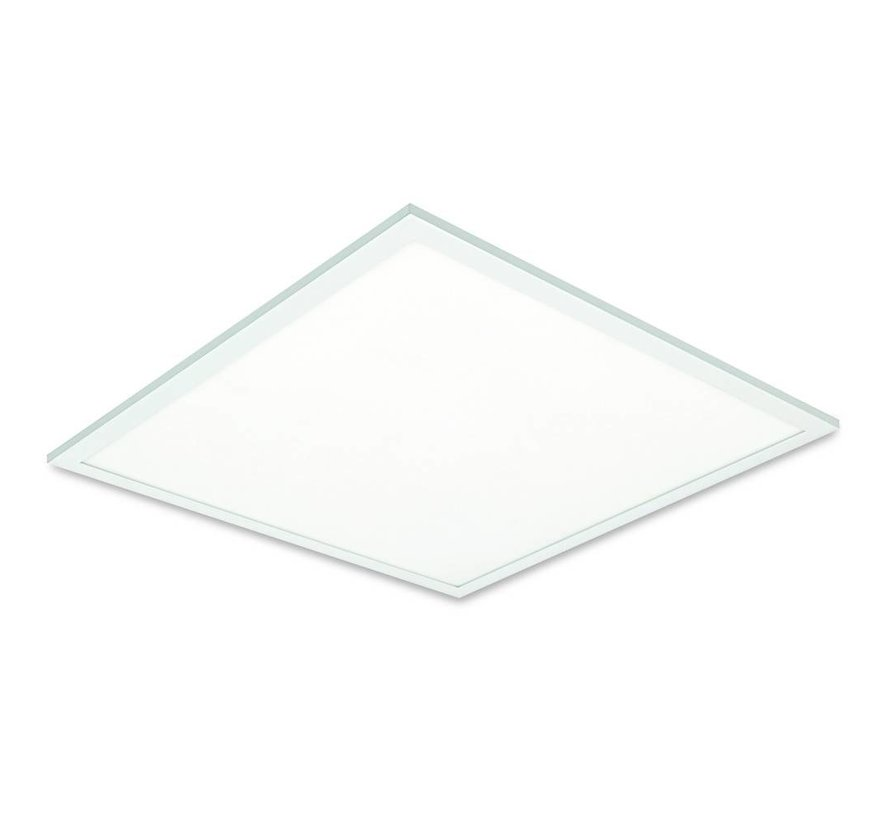 LED Panel 60x60cm - Kold hvid 6000K 865 40W 3600lm - Hvid kant - Inklusiv driver