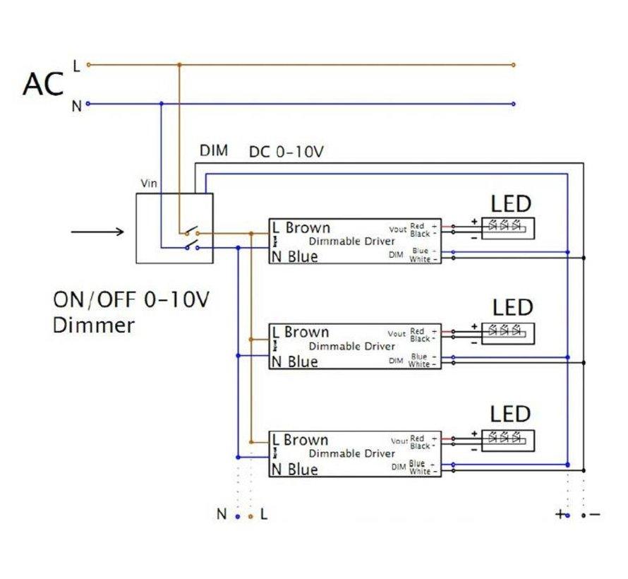 1-10V Lysdæmper til LED panel 800W maks.
