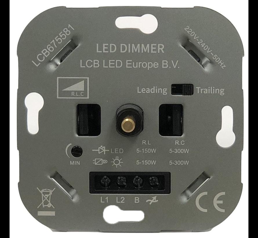 TRIAC - Indbygget LED-lysdæmper 'dimmer' - max. 300 Watt - Velegnet til faseskæring og fasesektion