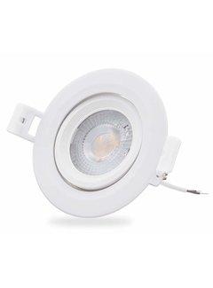 LED forsænket spot - 5W erstatter 35W - 3000K varmt hvidt lys