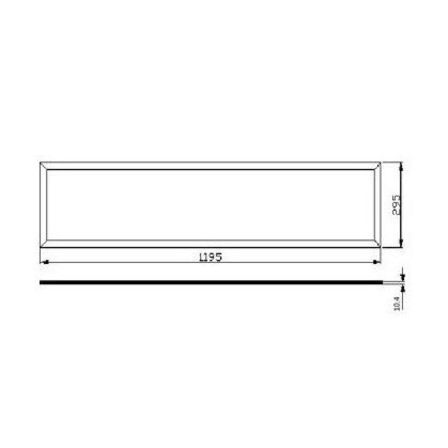 LED panel 120x30cm – Aluminium sølvkant – Naturlig hvid 4000K – 40W 3600lm – Inklusiv flimmerfri driver