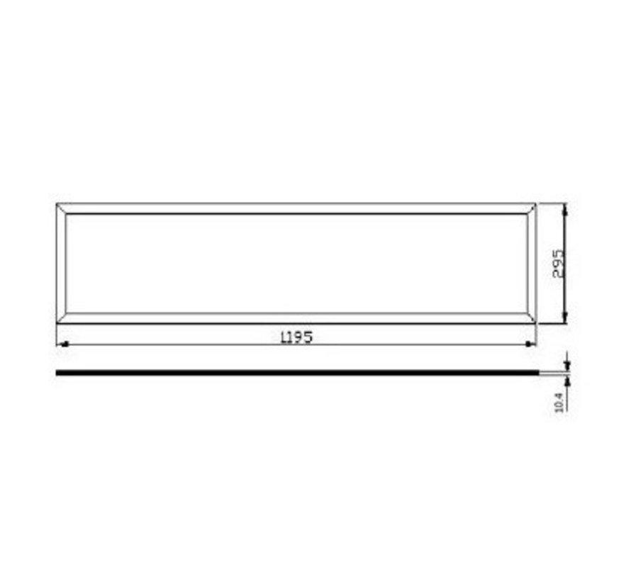 LED panel 120x30cm – Aluminium sølvkant – Kold hvid 6000K – 40W 3600lm – Inklusiv flimmerfri driver