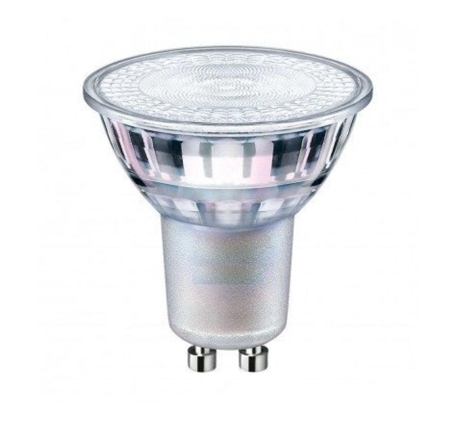 LED Spot GU10 – 5W erstatter 50W Kold hvid 6500K  – 230V - I glas