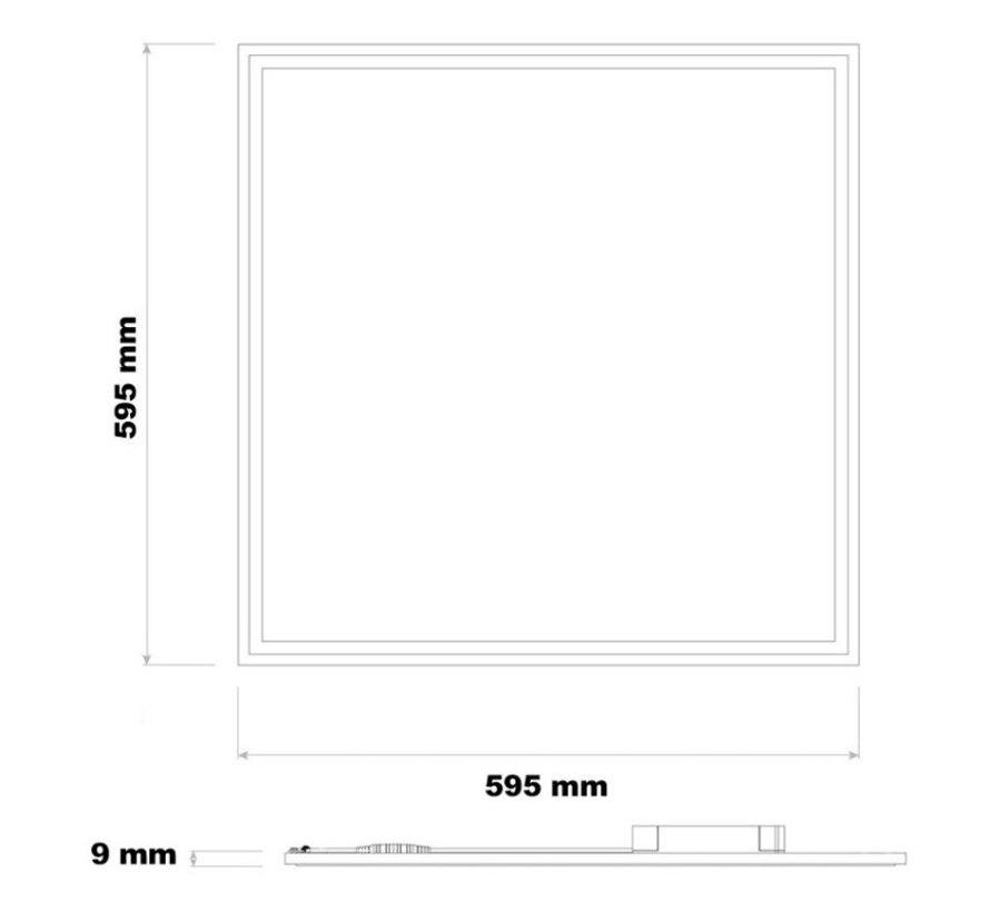 LED Panel 60x60cm – Varm hvid 3000K 830 – 32W – 120 Lumen per Watt