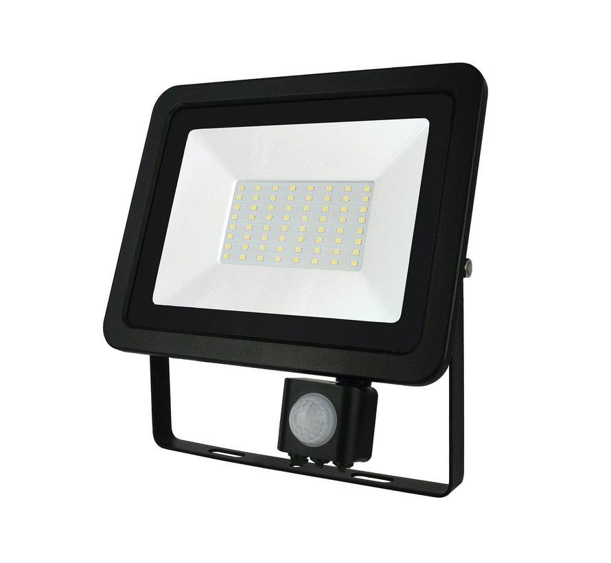 LED Projektør med sensor - 50W IP44 - Valgfri lysfarve - 3 års garanti