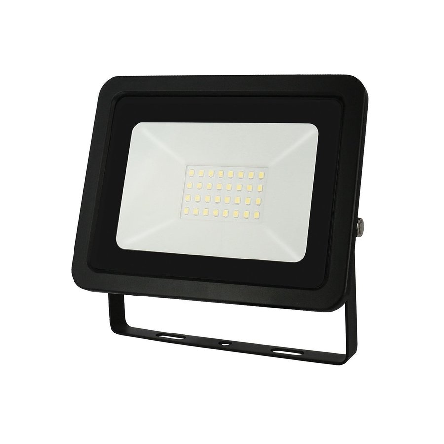LED Projektør - 30W IP65 - Valgfri lysfarve - 3 års garanti