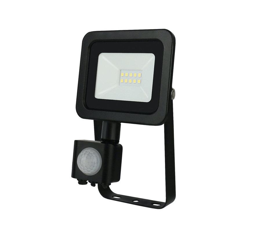 LED Projektør med sensor - 10W IP44 - Valgfri lysfarve - 3 års garanti