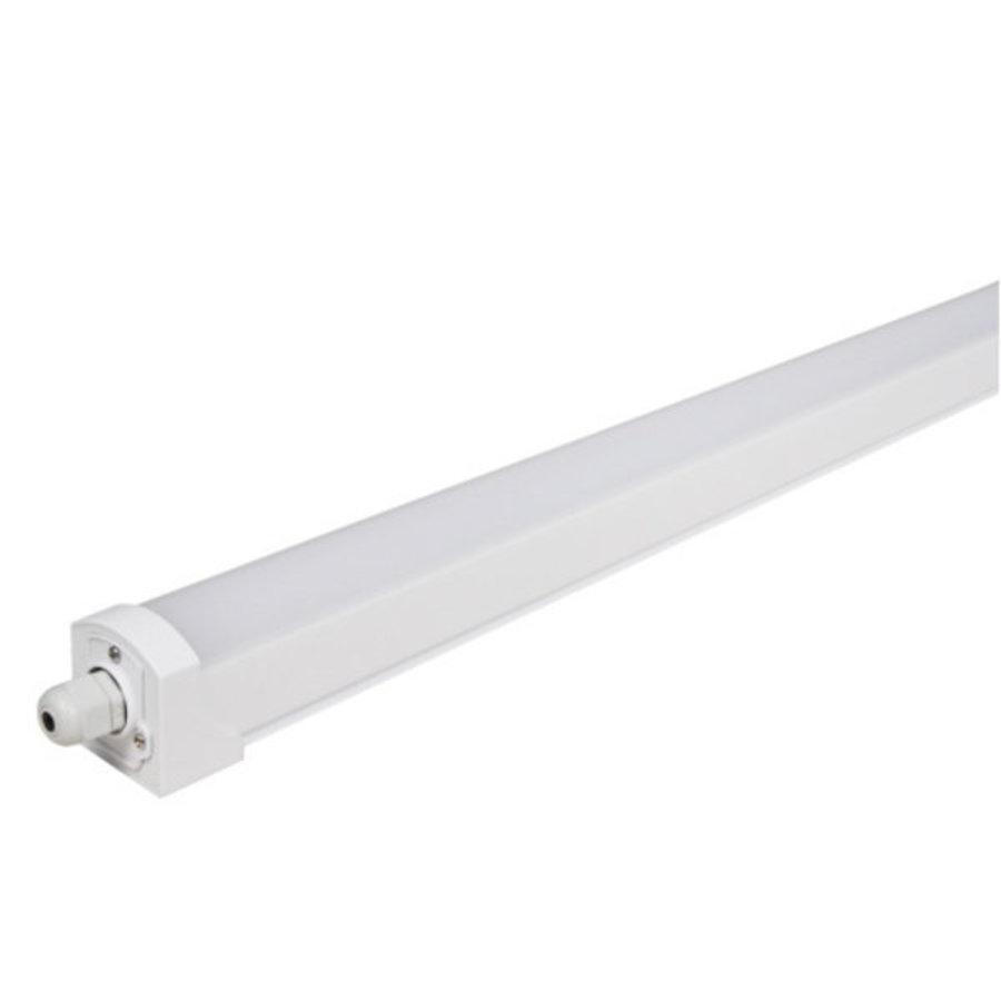 Komplet LED ECO armatur 120 cm 36W 100lm p/W - Valgfri lysfarve Vandtæt IP65