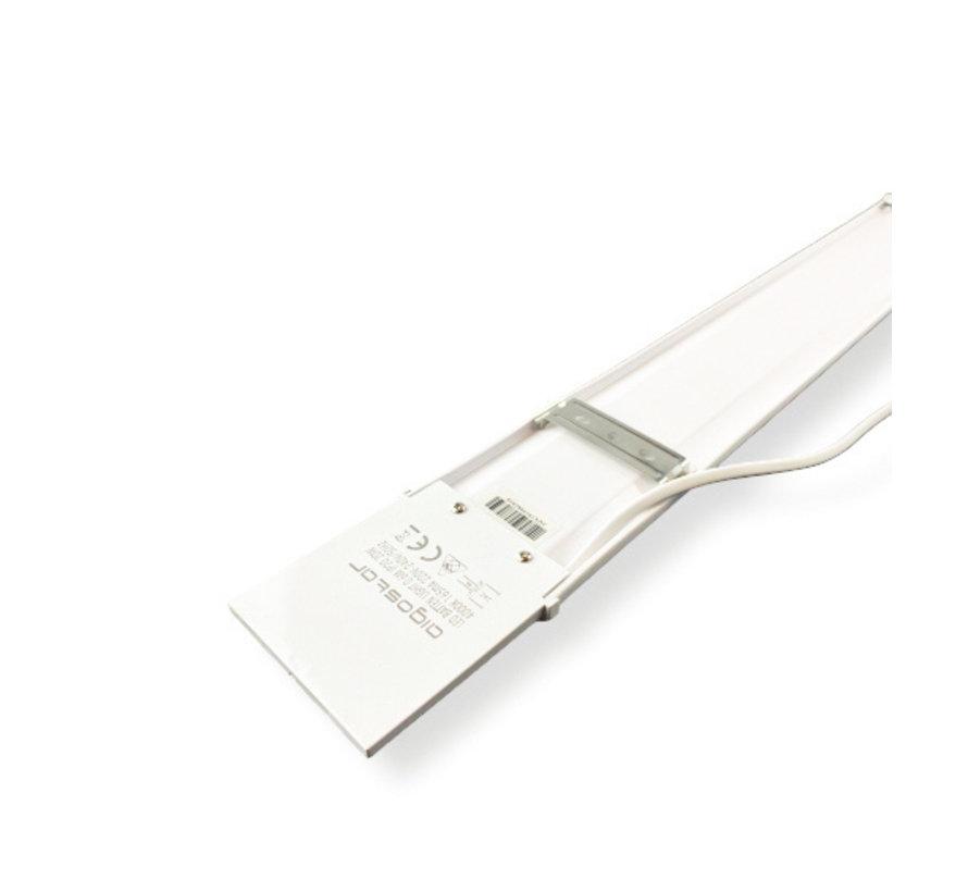 LED komplet armatur - 90 cm - 30W Valgfri lysfarve - Inkl. monterings-materiale