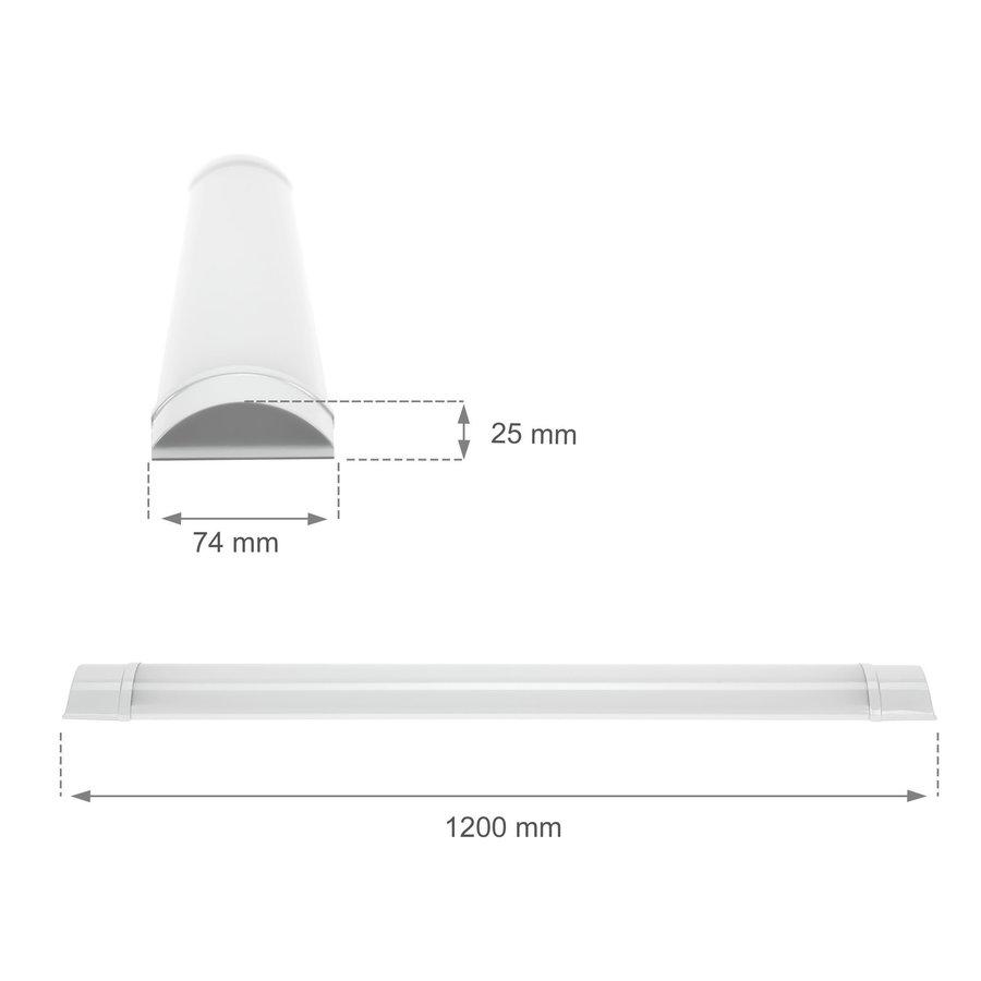 Komplet LED armatur 120 cm – 32W Valgfri lysfarve - Inkl. monterings-beslag