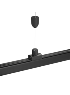 LED skinnespot ophængssæt - 1x8 meter stålkabel