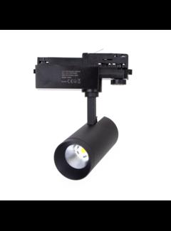LED skinnespot 3F i mat sort - 20W High Lumen - 4000K