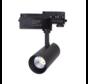 LED skinnespot 3F i mat sort - 20W High Lumen - 4000K Naturlig hvid