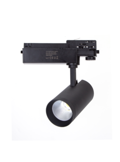 LED skinnespot 3F i mat sort - 30W High Lumen - 4000K