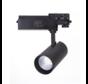 LED skinnespot 3F i mat sort - 30W High Lumen - 4000K Naturlig hvid