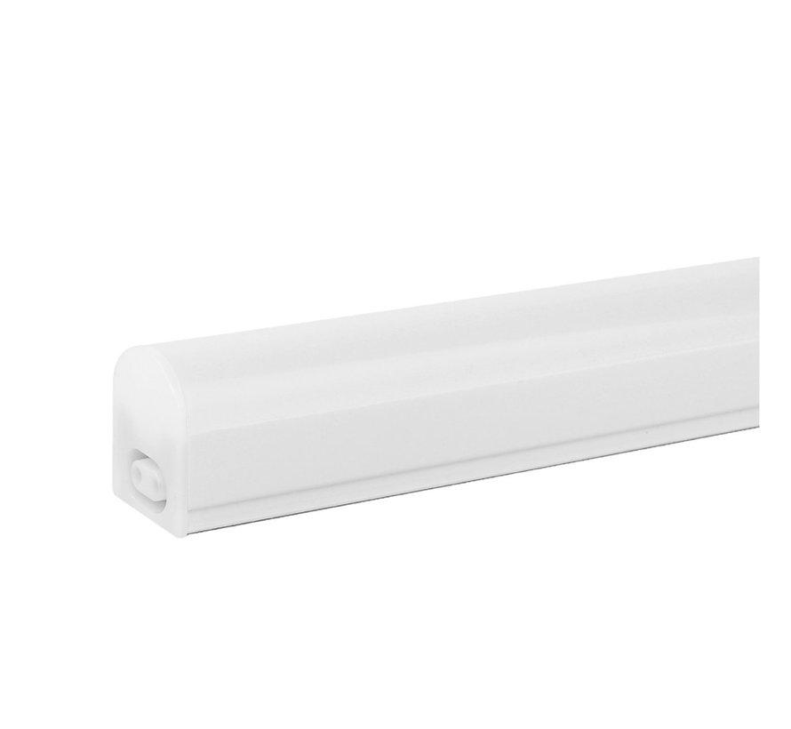 T5 LED armatur 60 cm - 8W erstatter 80W - 3000K Varm Hvid - Komplet med 1.5 strømkanel og en tænd-/slukknap