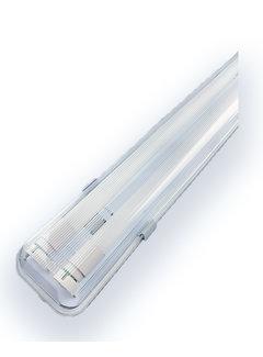 Vandtæt 120cm 36W LED armatur IP65 + 2 LED lysstofrør 3000K - Varmt Hvid - Komplet