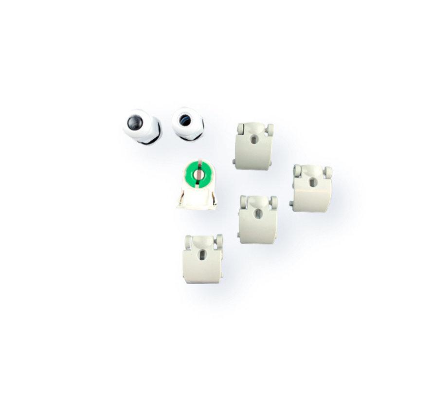Vandtæt LED armatur - 150 cm - Til 1 LED lysstofrør (eksklusiv lysstofrør)