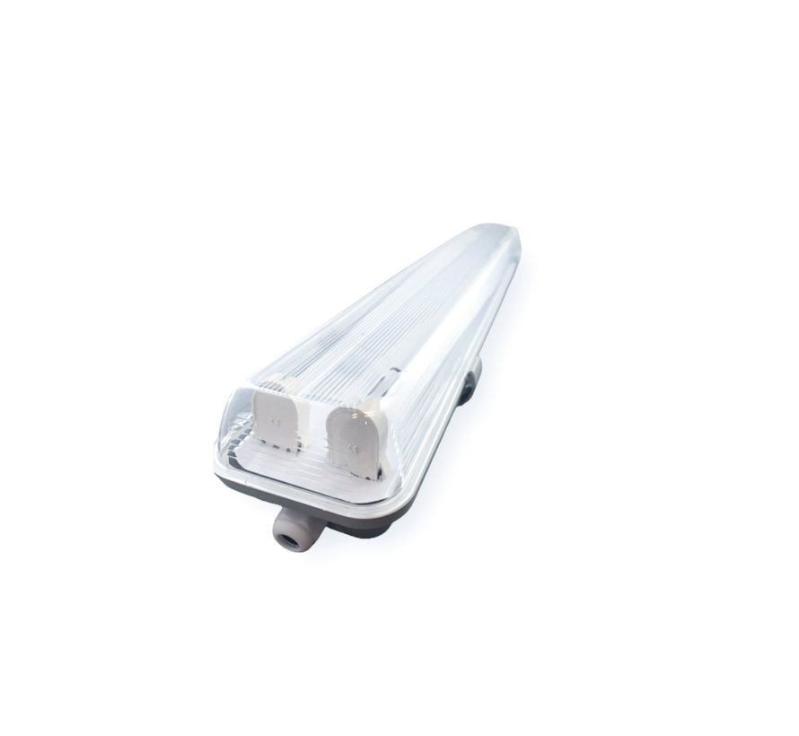 Vandtæt LED armatur - 150 cm - Til 2 LED lysstofrør (eksklusiv lysstofrør)