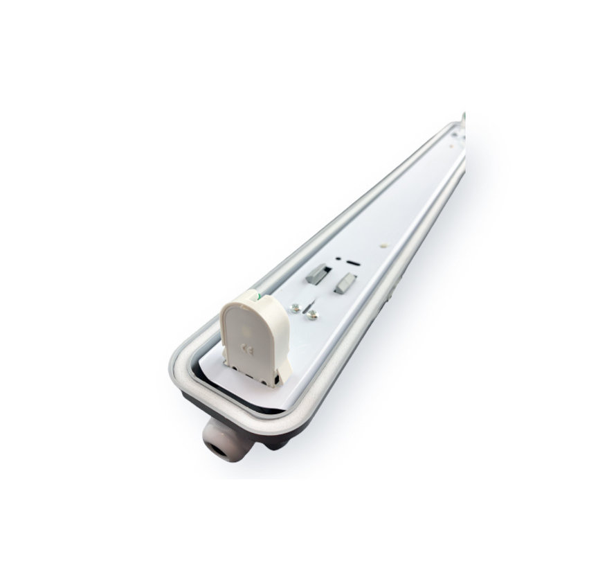 Vandtæt LED armatur - 60 cm - Til 1 LED lysstofrør (eksklusiv lysstofrør)