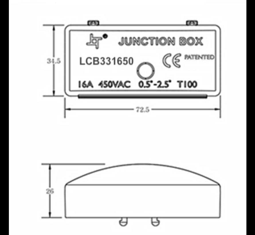 Samleboks - 3 ledninger 0,25 mm2 til 2,5 mm2 - IP44