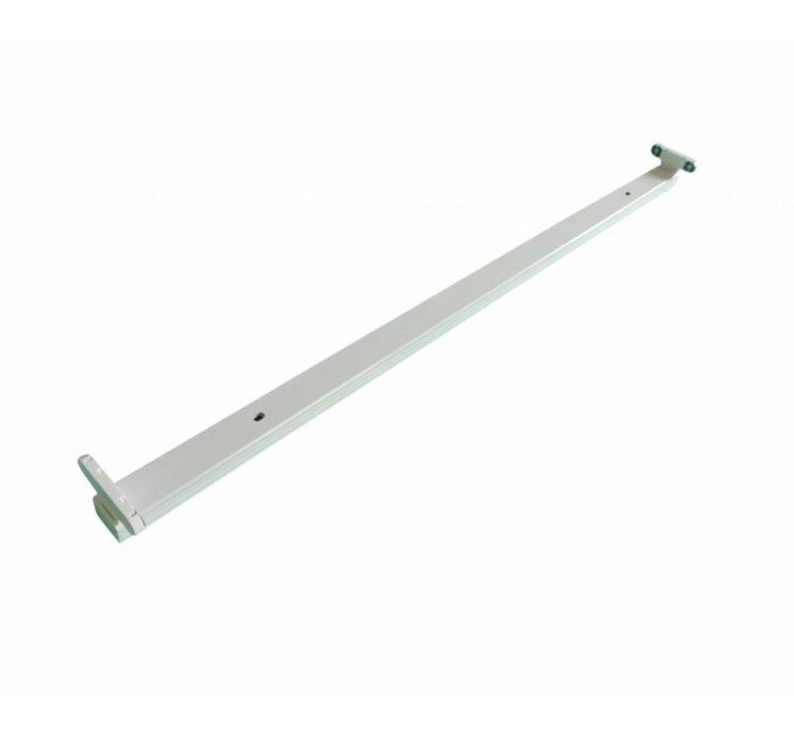 Hvidt armatur til LED lysstofrør - 150 cm - Til 2 LED lysstofrør (eksklusiv lysstofrør)
