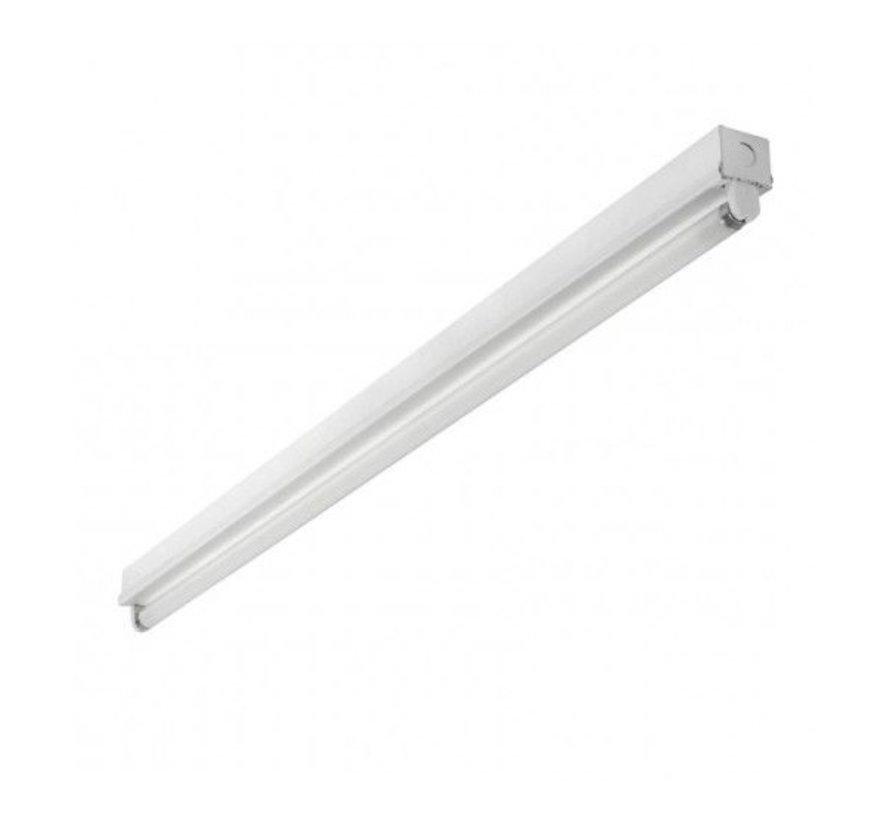 Hvidt armatur til LED lysstofrør - 150 cm - Til ét LED lysstofrør (eksklusiv lysstofrør)