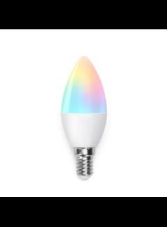 AigoSmart WiFi LED Pære - E14 5W C37 RGB+CCT alle lysfarver - Betjenes via app