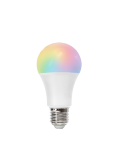 AigoSmart WiFi LED Pære - E27 9W A60 RGB+CCT alle lysfarver Betjenes via app