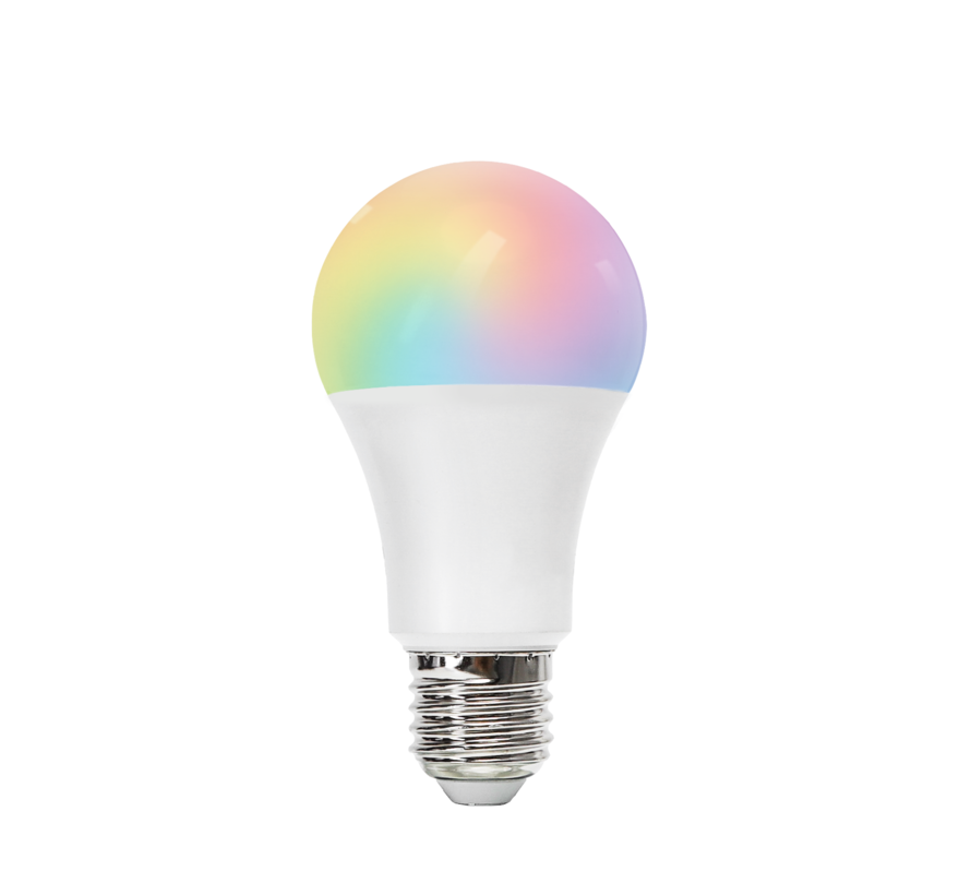 AigoSmart WiFi LED Pære - E27 9W A60 - RGB+CCT alle lysfarver - Betjenes via app