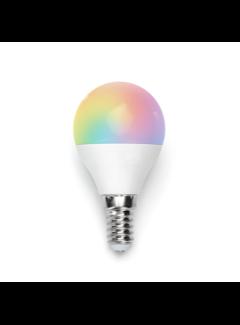 AigoSmart WiFi LED Pære - E14 5W G45 RGB+CCT alle lysfarver Betjenes via app