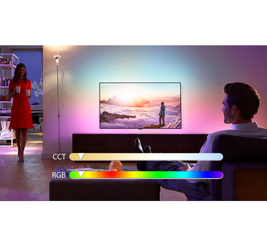 AigoSmart WiFi LED Pære - E14 5W G45 - RGB+CCT alle lysfarver - Betjenes via app