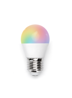 AigoSmart WiFi LED Pære - E27 5W G45 RGB+CCT alle lysfarver Betjenes via app