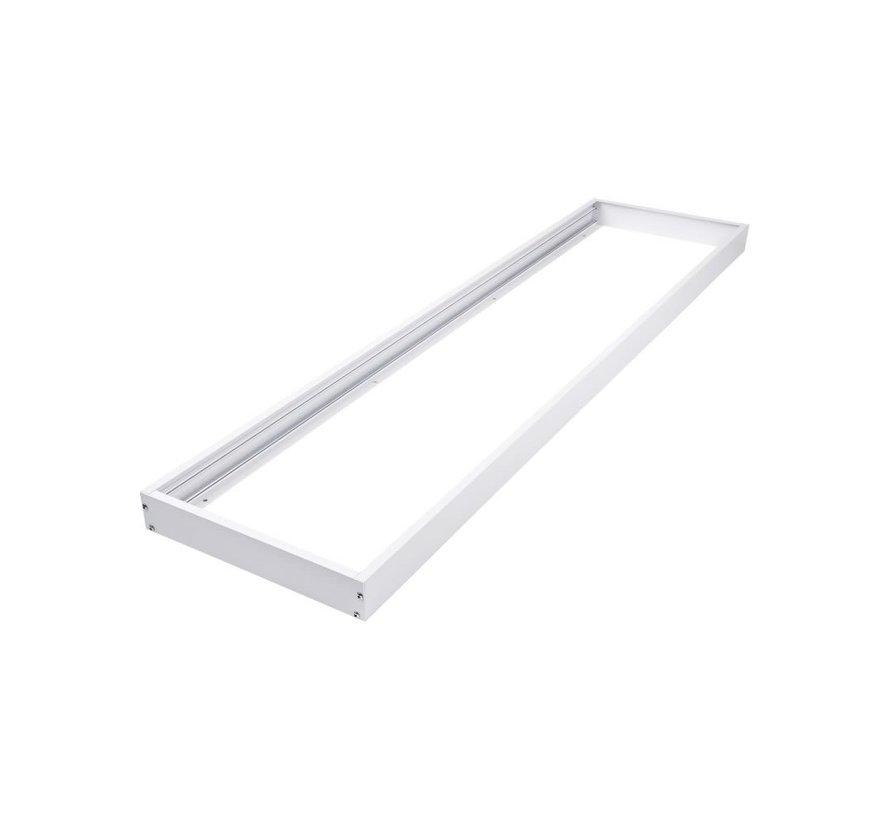 Hvidt rammesystem til montering af LED panel - 5 cm høj inklusiv skruer - 120x30 cm
