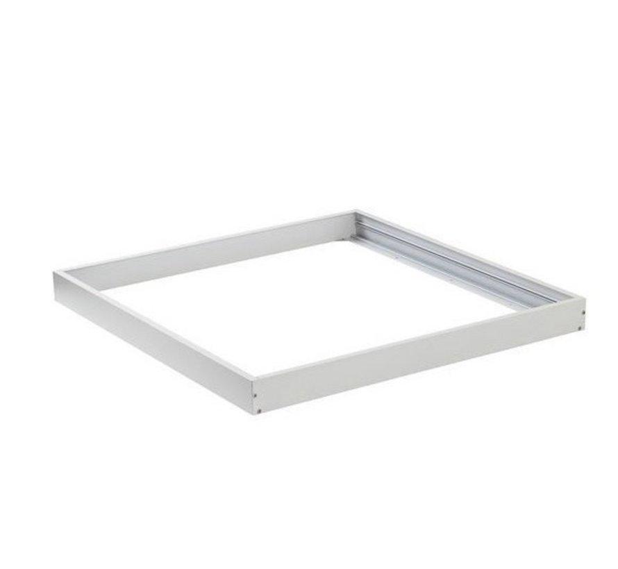 Hvidt rammesystem til montering af LED panel - 5 cm høj inklusiv skruer - 60x60 cm