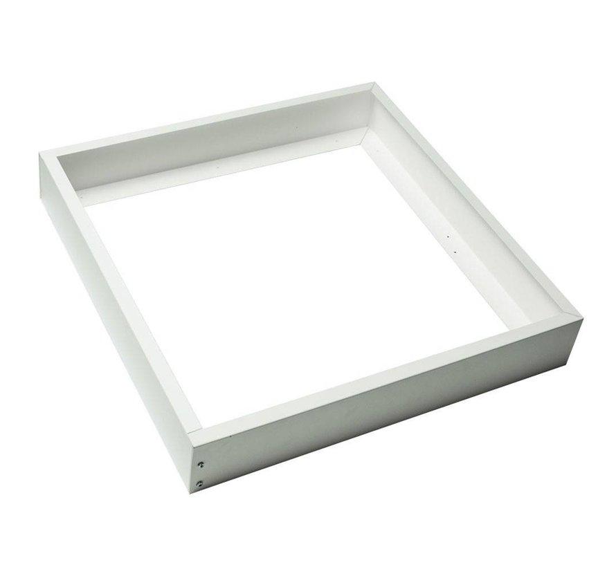 Hvidt rammesystem til montering af LED panel - 5 cm høj inklusiv skruer - 30x30 cm