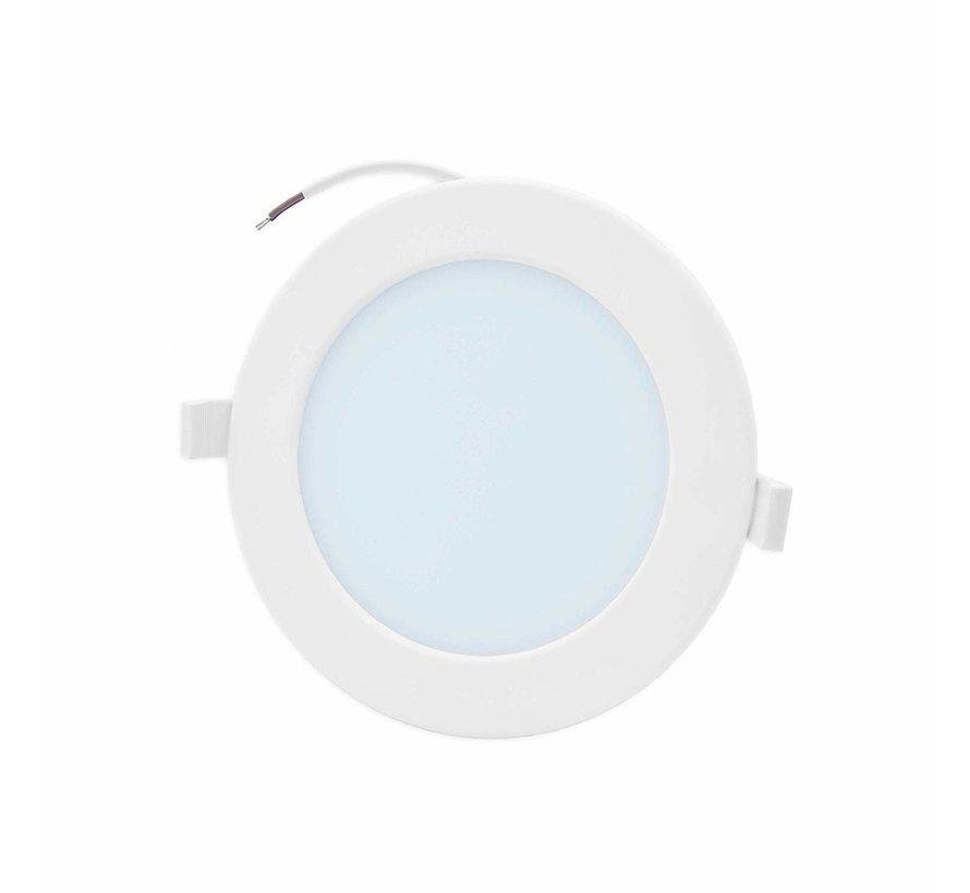 LED Downlight rund - 12W erstatter 100W - Monteringsmål 150x32mm - 6000K koldt hvidt lys