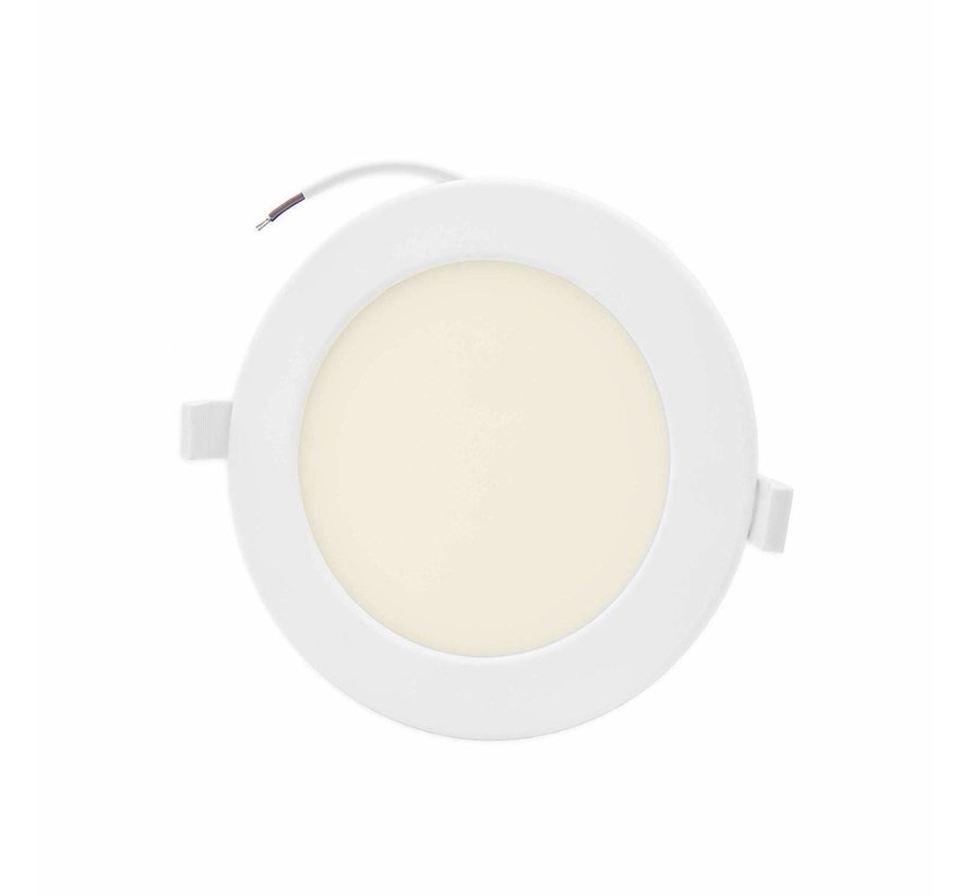 LED Downlight rund - 16W erstatter 110W - Monteringsmål 150x32mm - 3000K varmt hvidt lys