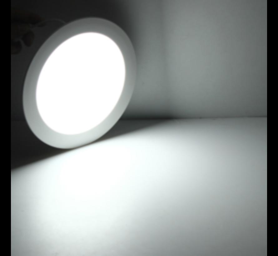 LED Downlight rund - 16W erstatter 110W - Monteringsmål 150x32mm - 6000K koldt hvidt lys