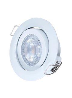 LCB LED Downlight hvid 3W erstatter 25W - 3000K varmt hvidt lys - 74mm