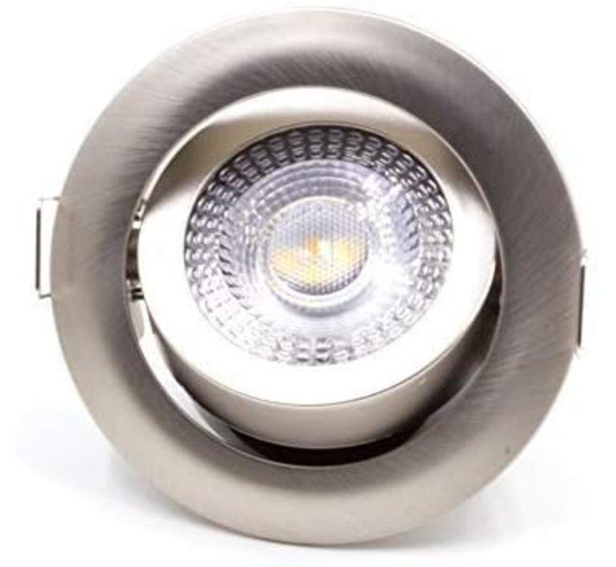 LED Downlight - 3W erstatter 25W - 3000K varmt hvidt lys - Kan vippes