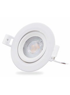 LCB LED Downlight dæmpbar - 5W erstatter 50W - 3000K varmt hvidt lys