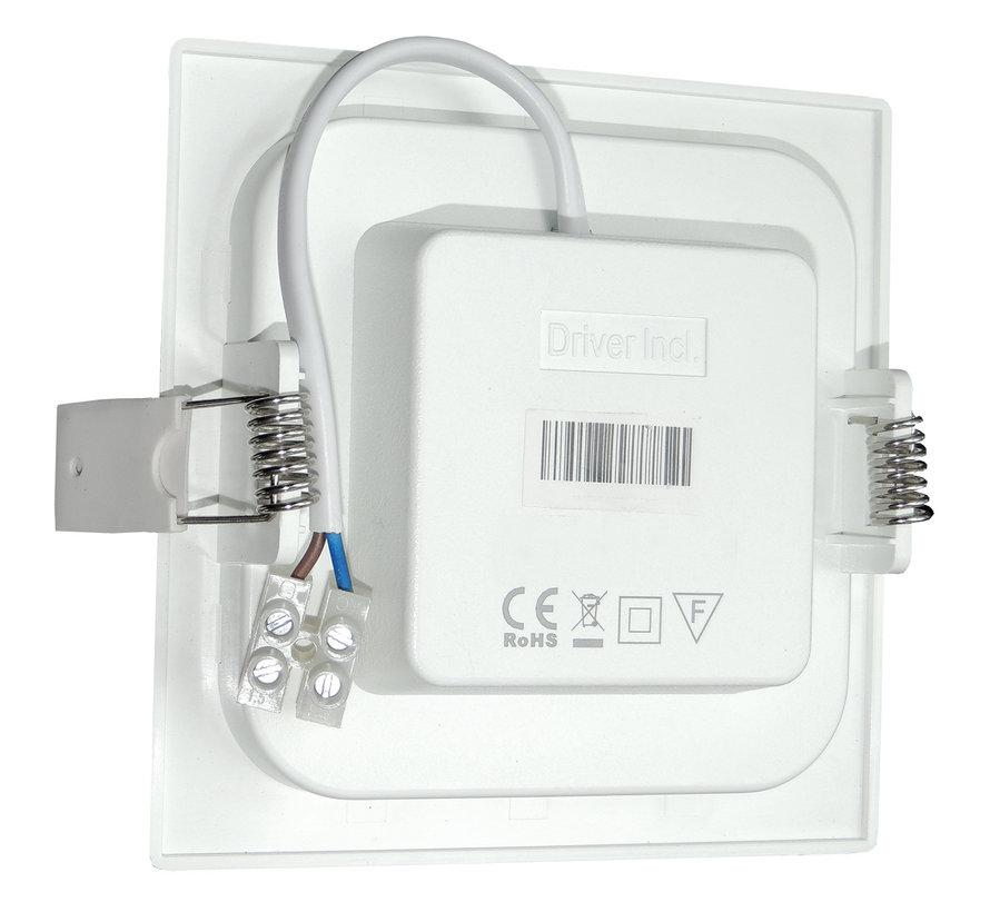 LED Downlight Firkantet - 12 Watt - 3000K/4000K/6000K - 150x150 mm