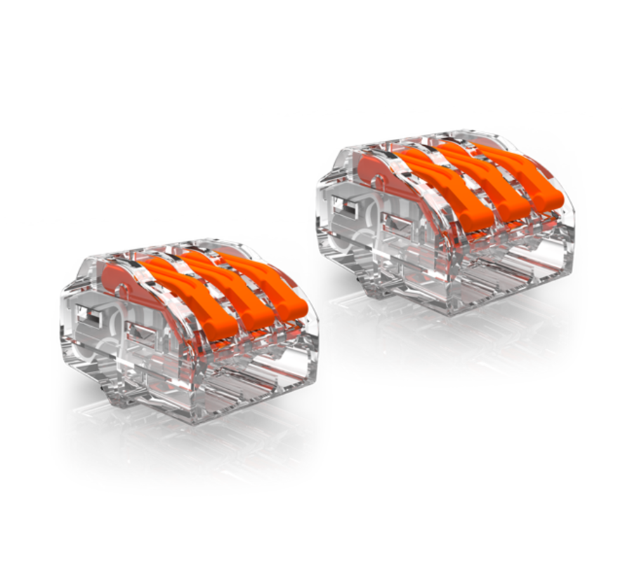2 stk. Conex samlemuffe - 3-polet 0,5 op til 4mm2